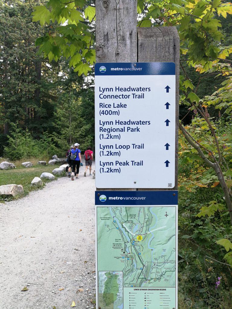 Lynn Headwaters Connector Trailhead