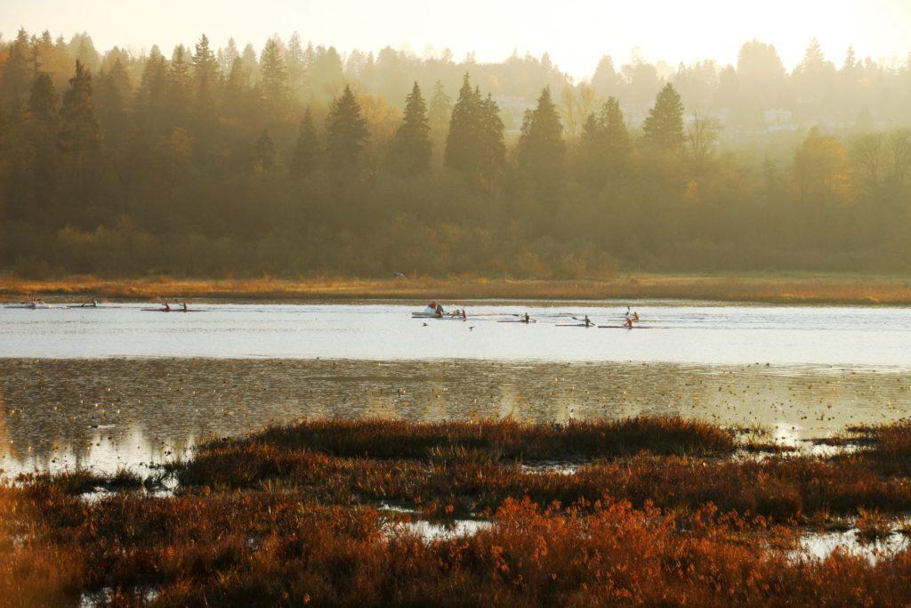 Rowing on Burnaby Lake