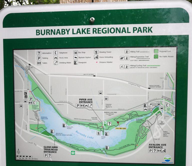 Burnaby Lake Map
