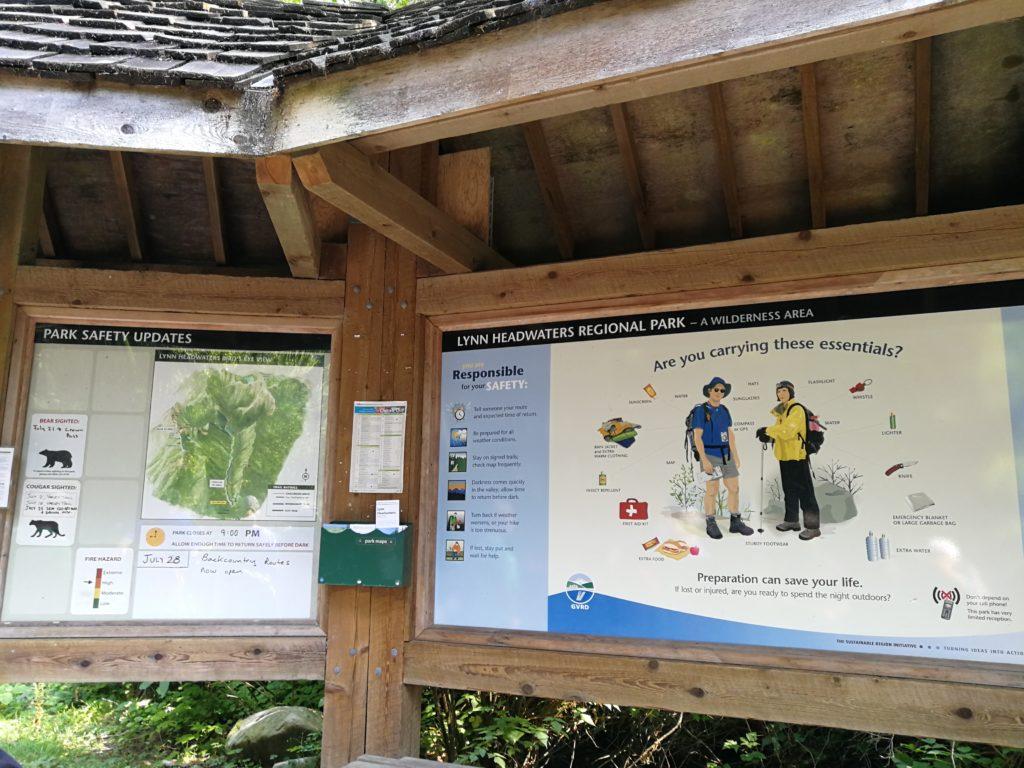 Lynn Headwaters Park Entrance Map