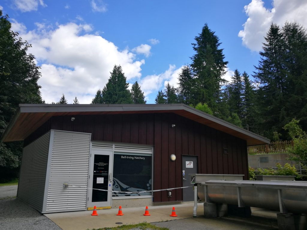 building at Irving-Bell Salmon Hatchery