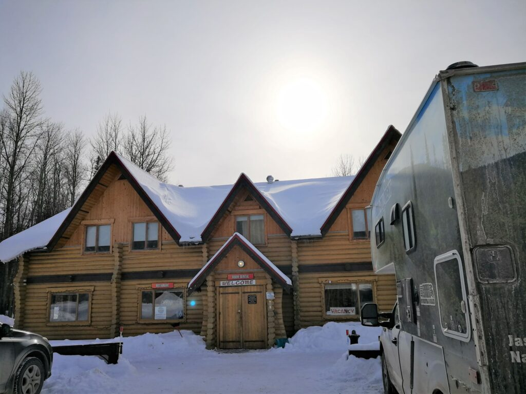 The outlook of Liard Hot Springs Lodge
