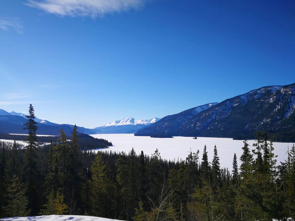 Muncho Lake from highway lookout