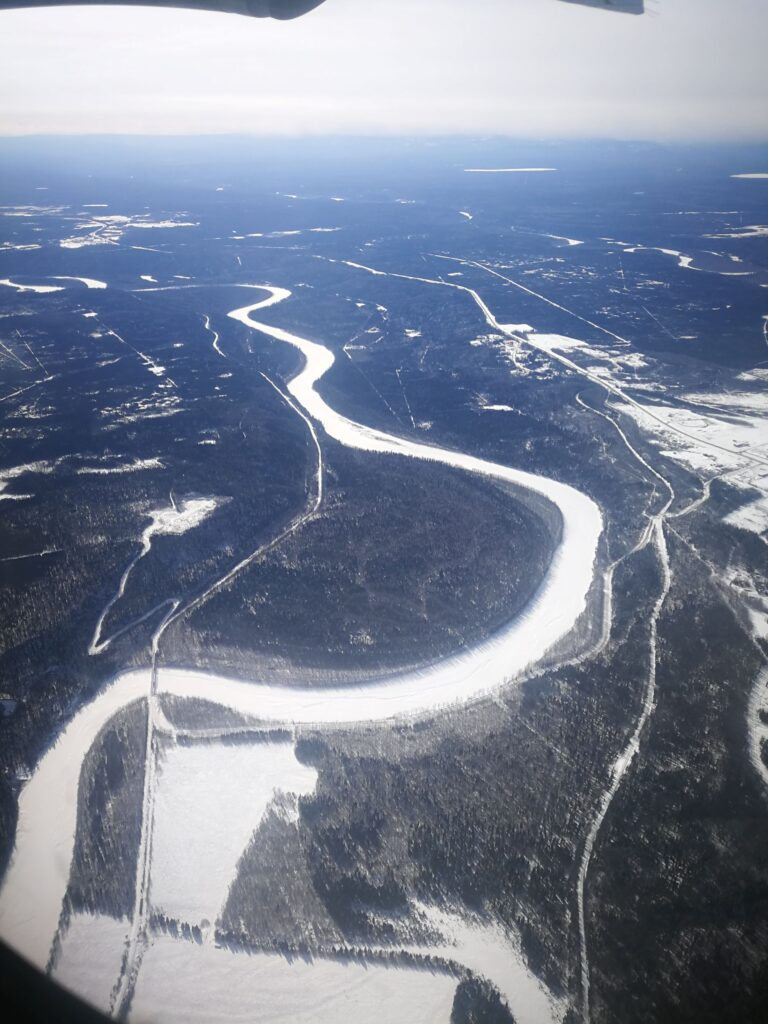 Aerial view of Fort Nelson River