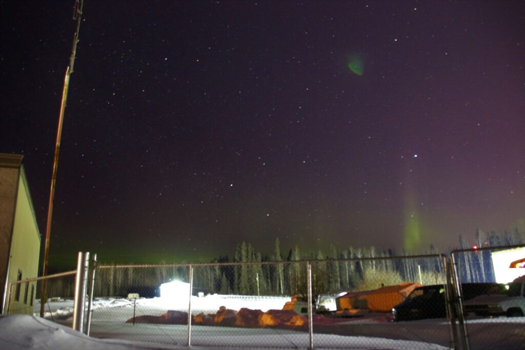 Northern Lights outside of Fort Nelson