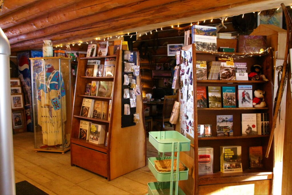 Books of local histories and stories at the gift shop