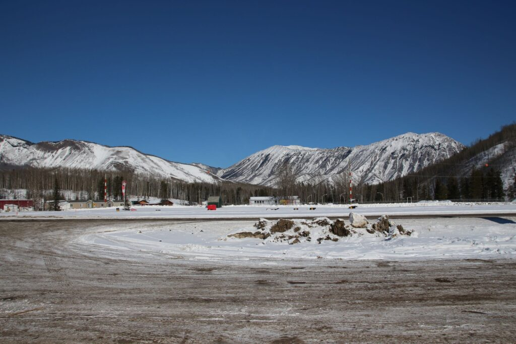 Toad River service station with highway maintenance and runway