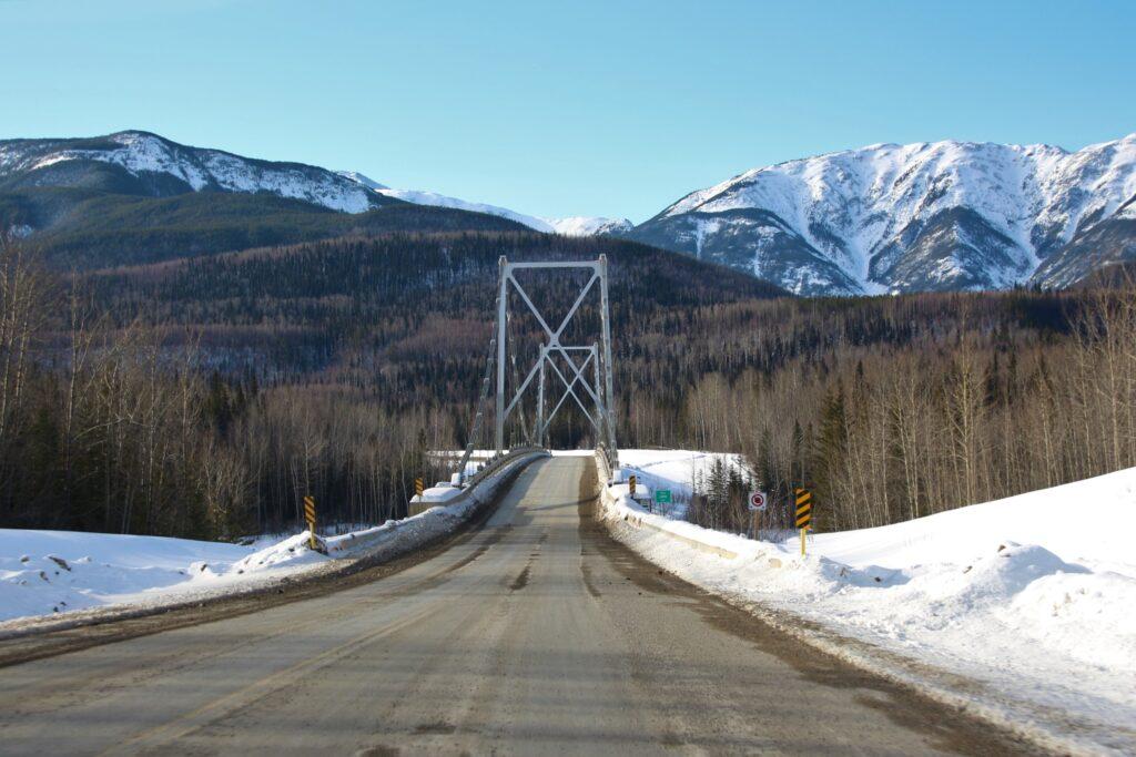 Liard River Bridge southbound
