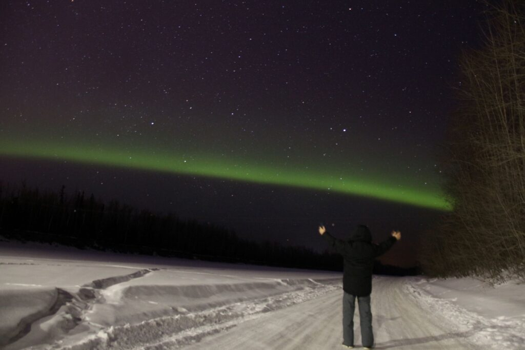 Standing under the Northern Lights