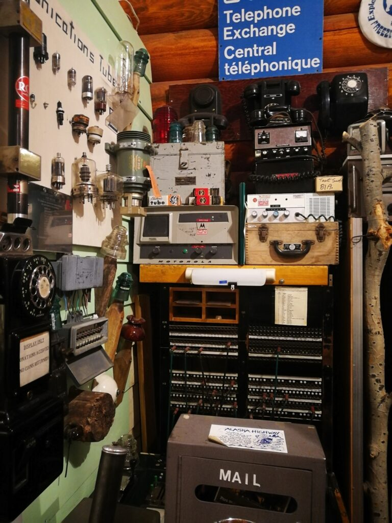 Telephone exchange operation system at the museum
