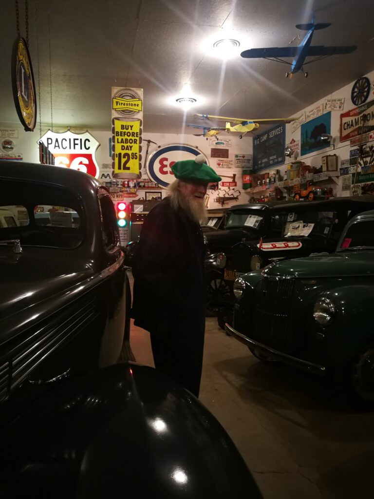 Curator Marl Brown showed off classic car collections