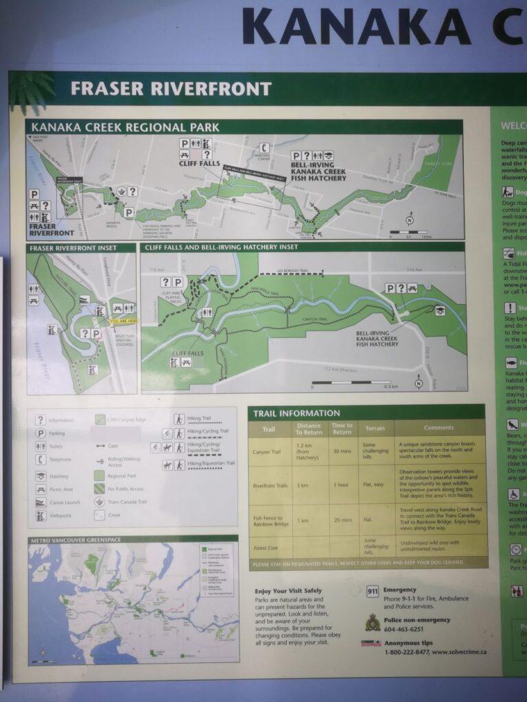 Kanaka Creek Regional Park Riverfront Map