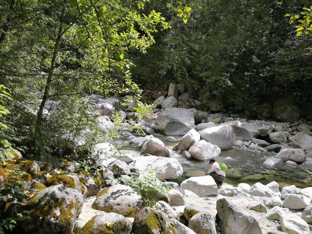 Natural pool formed by rocks Upper Cascade Creek