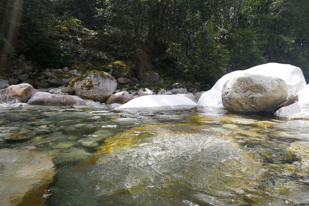 Natural rock pool at Upper Cascade Creek