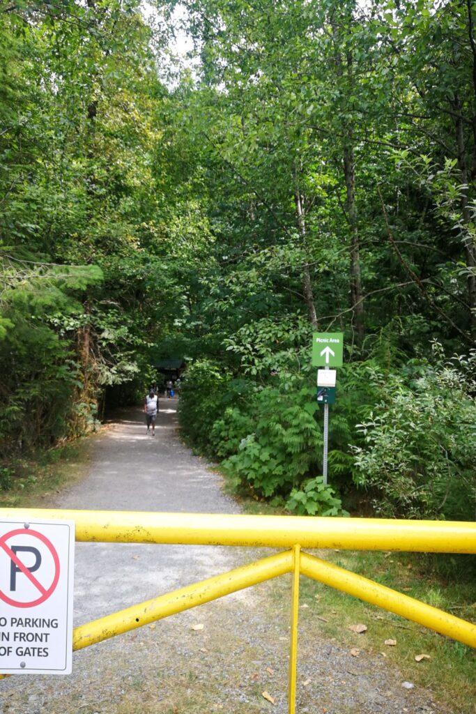 Trail by Cascade Falls parking lot