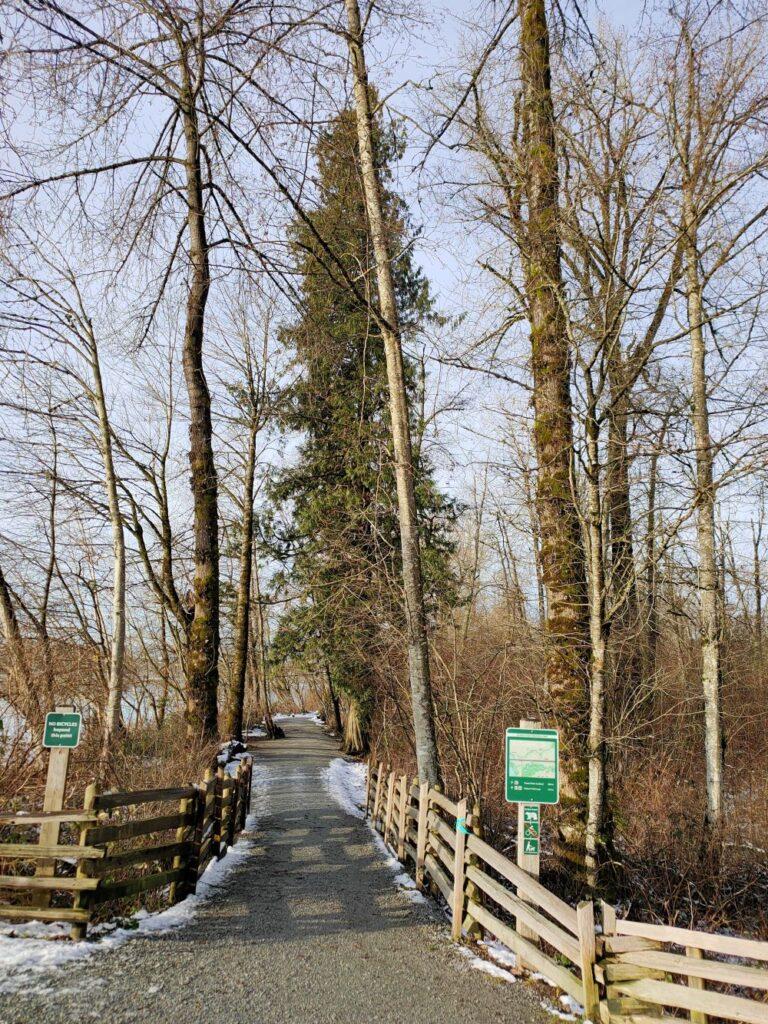 Trailhead at the Riverfront trail