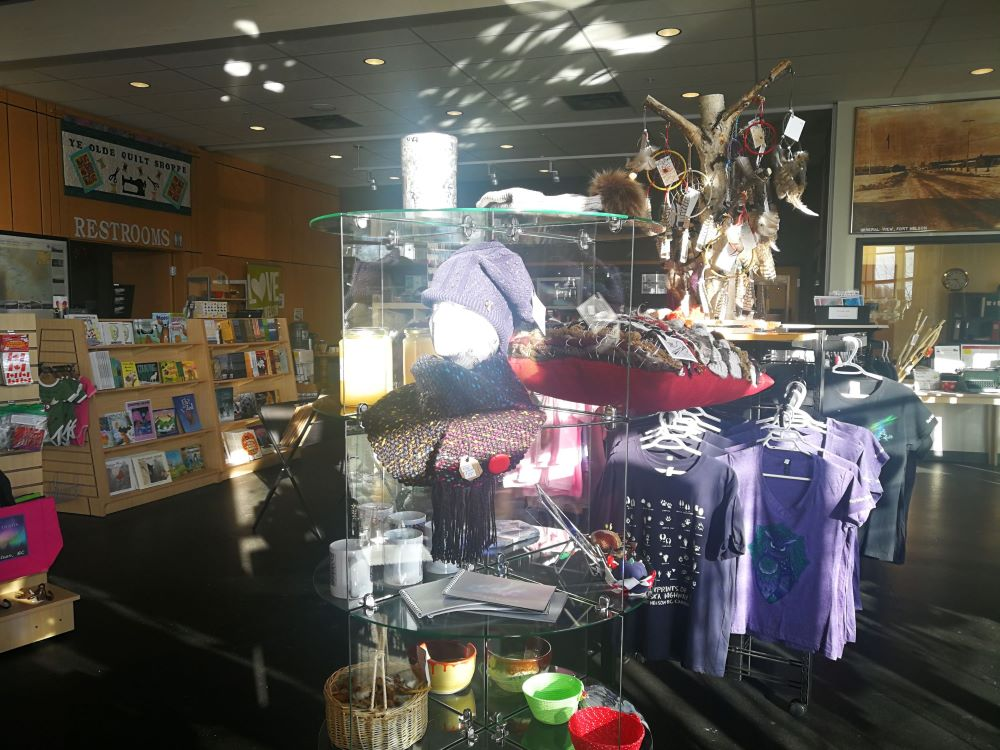 merchandise at Fort Nelson Visitor Service Centre