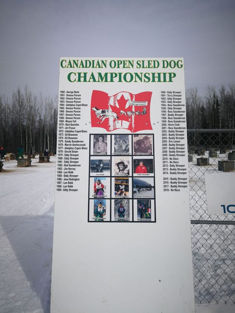 sign board of Canadian Open Sled Dog Championship