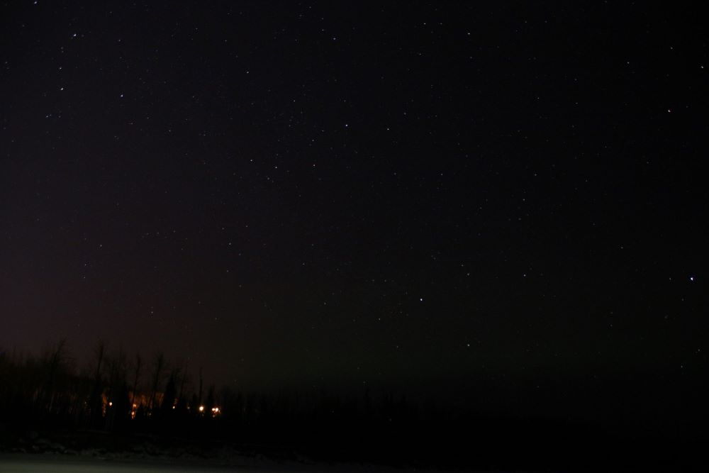 Northern Lights just started to appear at Fort Nelson