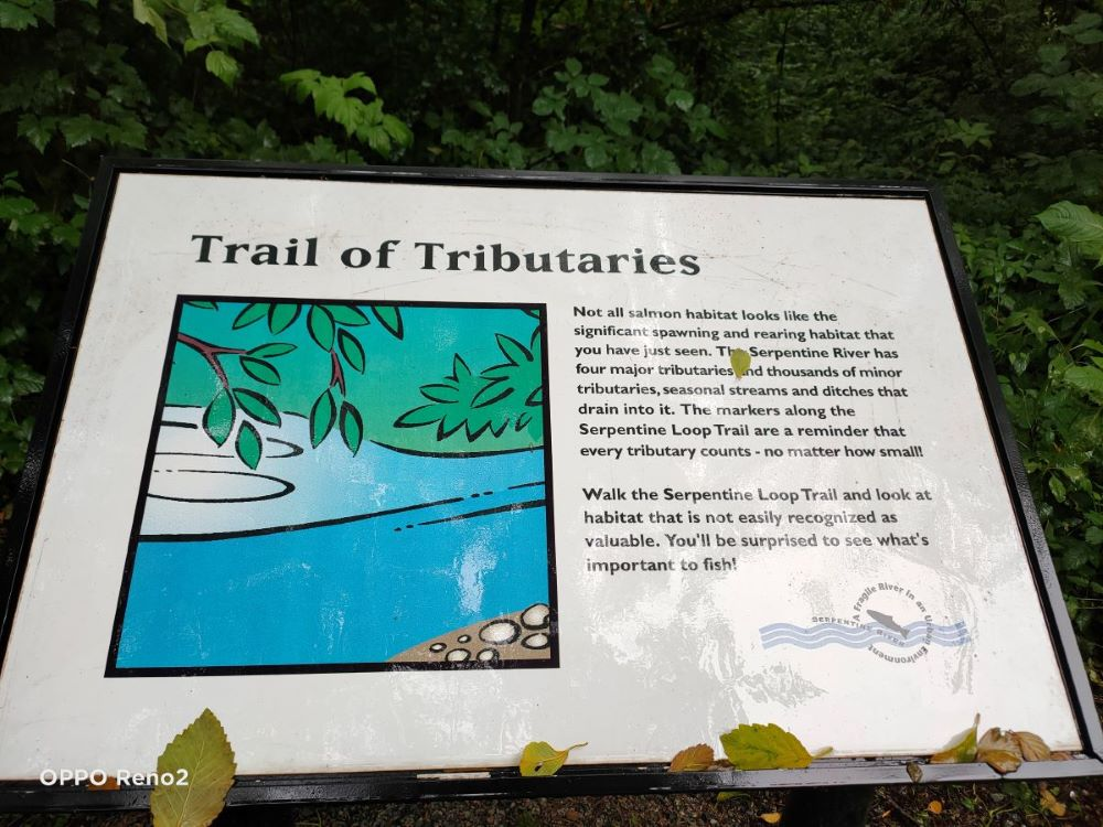 Trail of Tributaries signage