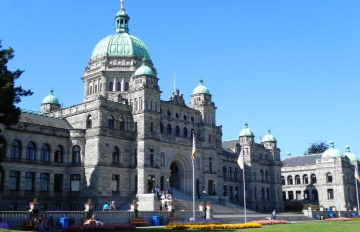 BC Legislative Building in Victoria
