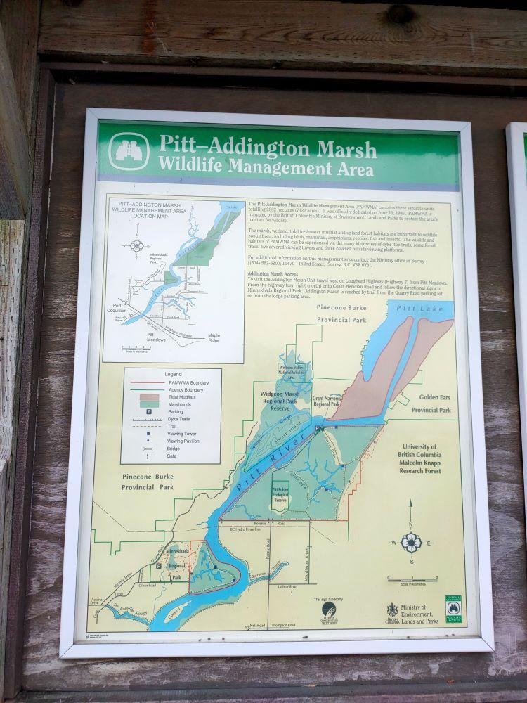 Pitt-Addington Marsh trail map