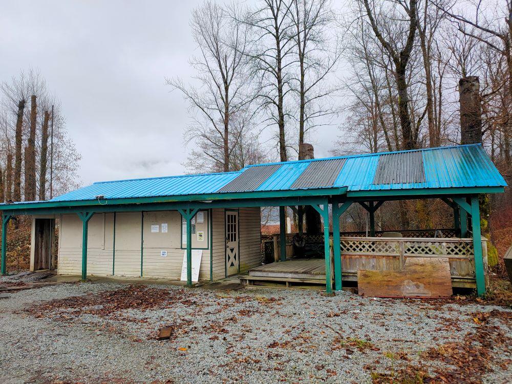 Closed concession office at Pitt Lake