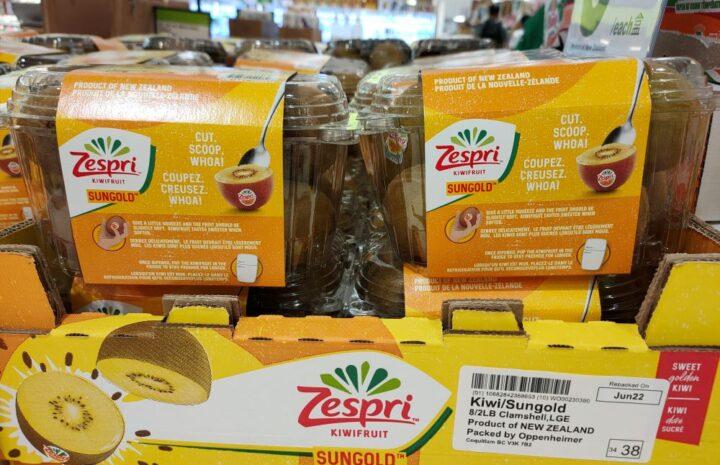 A pack of Sungold Zespri Kiwifruit
