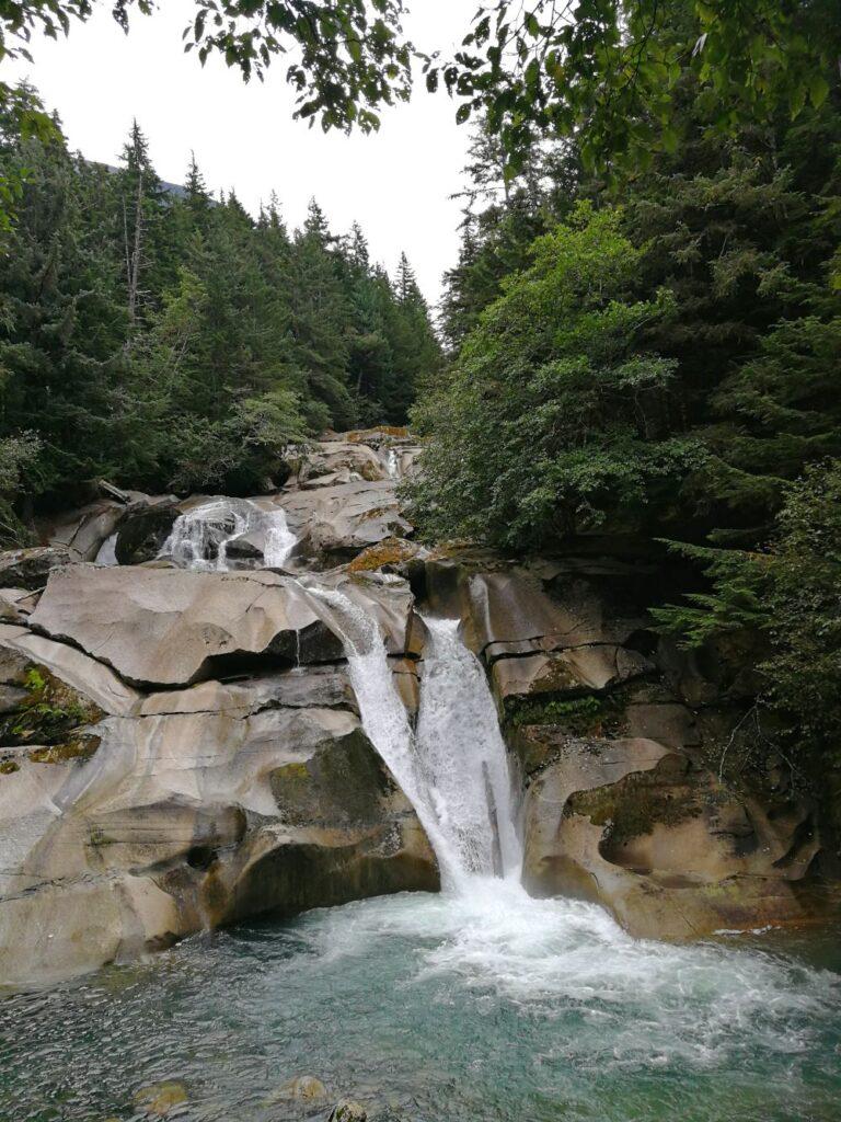 Clayton Falls cascading down