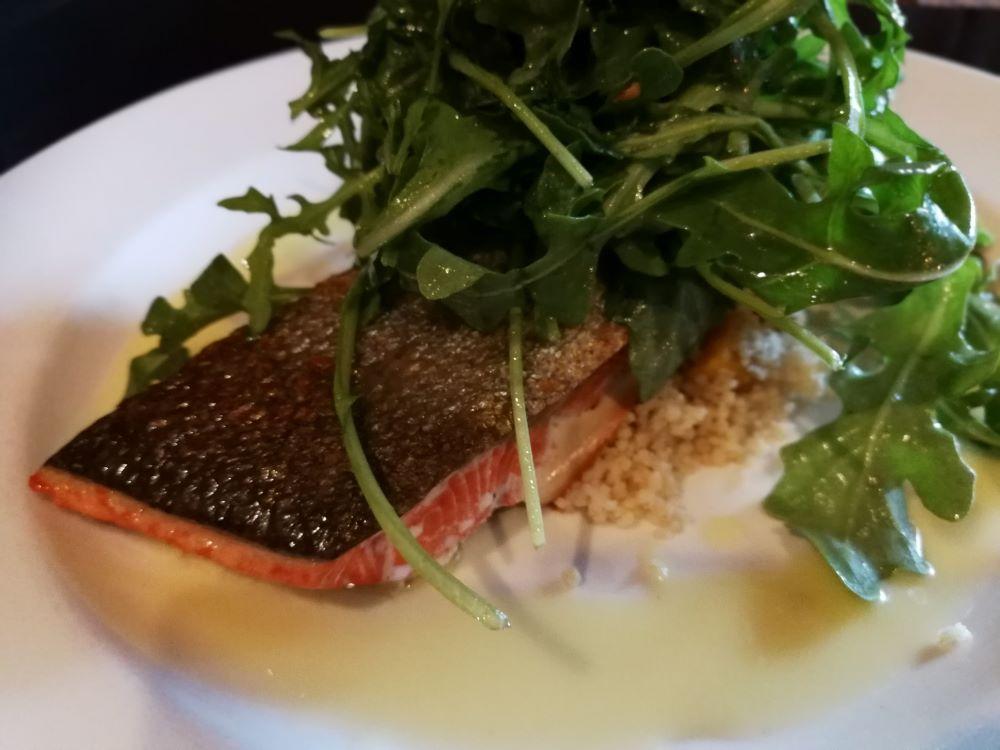 salmon dish at Bella Coola Mountain Lodge