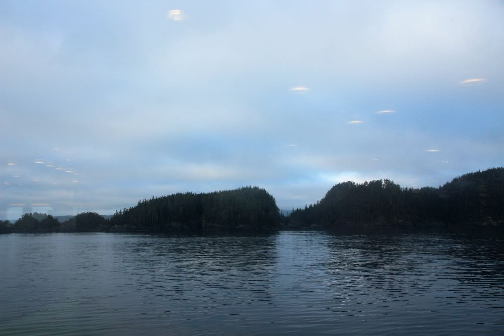 view from Northern Expedition at Port Hardy before dawn
