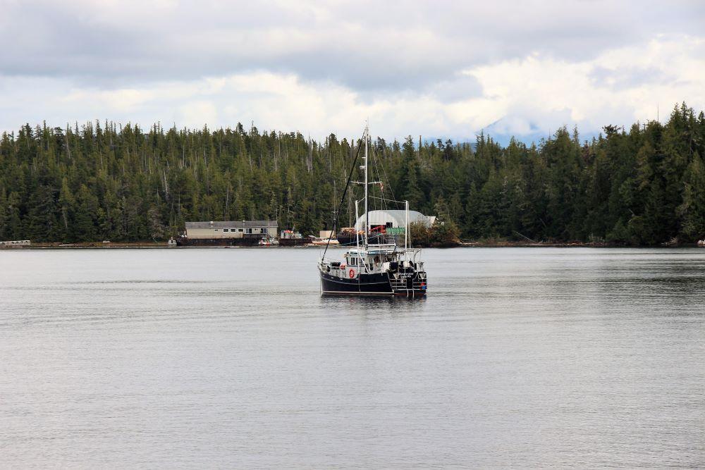 Fishing boat of Shearwater Resort